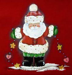 Coisas da Nil - Pintura em tecido: Mais um Papai Noel!!!