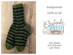 Tunella's Geschenkeallerlei präsentiert: geniale handgestrickte Socken mit verstärkter Ferse aus einer Alpaka/Wolle/Polyamid-Mischung - du kannst dich warm anziehen, dank sorgfältigem Entwurf, liebevoller Handarbeit und deinem fantastischen Geschmack wirst du umwerfend aussehen #TunellasGeschenkeallerlei #Strickerei #drumherum #Socken #Strümpfe #Ringelsocken #Alpaka #Wolle