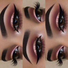 Gorgeous Makeup: Tips and Tricks With Eye Makeup and Eyeshadow – Makeup Design Ideas Makeup Eye Looks, Cute Makeup, Gorgeous Makeup, Casual Makeup, Rose Gold Makeup Looks, Cute Eyeshadow Looks, Sweet 16 Makeup, Eye Makeup Steps, Makeup Inspo