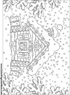 Adult houses Coloring Pages Printable   House Coloring Page 17