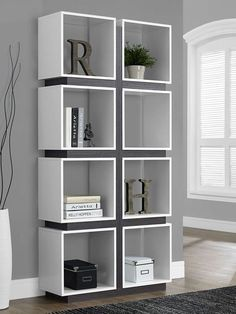 Tall Hollow-Core Bookcase by Monarch Specialties at Gilt