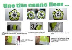 Yellow Flower Cane Tutorial - over 600 FREE polymer clay tutorials at this website