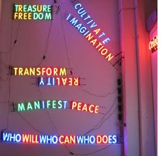 The Museum of Neon Art in downtown Los Angeles features a collection of vintage neon signs dating back to the 20s as well as other works by light artists.