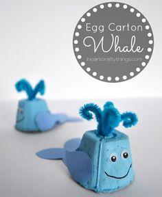 Transform egg cartons into whales.