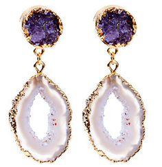 The Loupe | Designer Jewelry, Fashion Jewelry: Amazing Dara Ettinger Antonia Drutzy and Geode Earrings