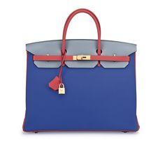3c440a194cd Hermès special order horseshoe 40cm leather Birkin bag with brushed gold  hardware