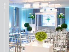 Simple, Modern wedding ceremony at Hard Rock Hotel Chicago. #studioag #studioagdesign