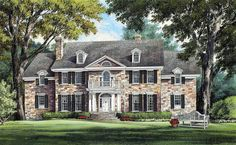 Plan 32419WP: Magnificent Colonial Home Plan