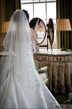 Bride in the Lady Melbourne room