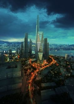 Diagonal Tower - Seoul, South Korea - or, Fantasia from The Neverending Story. I can't be sure.