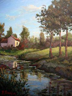 Original painting impressionist  Italy Tuscany by FrancescoSessa
