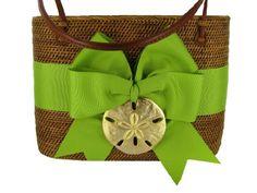 Hand Made Ata Grass Large Oval Bali Bag (Kiwi bow-gold sand dollar) Bosom Buddy,http://www.amazon.com/dp/B00FLZJJJM/ref=cm_sw_r_pi_dp_FioHsb07NF2N0TY3