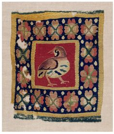 Coptic woven tapestry panel, 4th or 5th century using eccentric weft technique. Introduction to tapestries - Victoria and Albert Museum