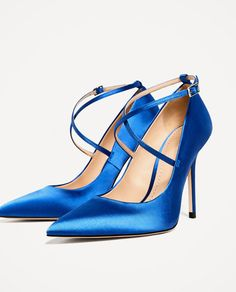 Image 5 of SATIN HIGH HEEL SHOES WITH STRAPS from Zara