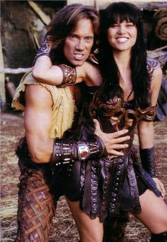 Kevin Sorbo & Lucy Lawless. Two of my absolute favorites from childhood. Watched them every day.