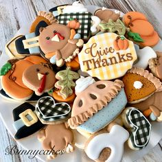 Thanksgiving Themed sugar cookies