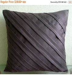 15% HOLIDAY SALE Chocolate Brown Throw Pillows by TheHomeCentric