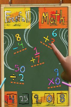 Freefall math is a fun way to practice facts #edapps