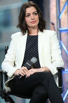 Making appearances: Anne Hathaway attended the AOL Build Presents The Intern at AOL Studio...