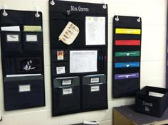 Love this idea for organizing your classroom! Hang-up Organizers from Thirty-One (in Black Cross-Pop) - jazz up with colored file folders! <3