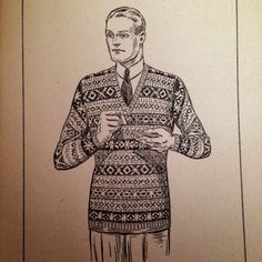 1940's Style For You: Free Knitting Pattern - 1930s Fair Isle Pullover for Men