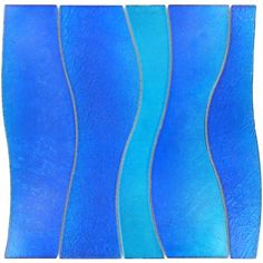 Tesoro Blue Wave Glass Tile | Mosaic Blue Tiles