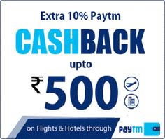Easemytrip is offering Get 10% Cashback on Booking Flights & Hotels Through Paytm Wallet How to catch the offer: Click here for offer page Offer is valid only for online booking at http://www.easemytrip.in Valid on Till 2nd May 2016