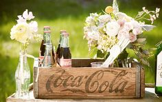 Love the Coca Cola! I want lots of these vintage crates at my wedding!