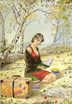 JP Gibrat - illustration représentant Cécile (Le sursis) pour le festival de Creil