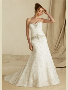 A Line Beading Sweetheart Lace 2013 Wedding Dresses