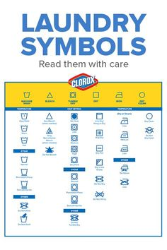 Read those labels with care! Check out the Clorox guide to de-coding those cryptic label icons.
