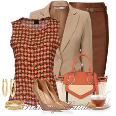 A fashion look from March 2014 featuring Aspesi tops, Polo Ralph Lauren skirts and Sergio Rossi pumps. Browse and shop related looks. Classy Outfits, Beautiful Outfits, Casual Outfits, Fashion Outfits, Womens Fashion, Office Fashion, Business Fashion, Work Fashion, Business Professional Dress