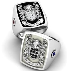 Custom Made Signet Ring Mens Ring Family Crest Ring Coat Of Arms Ring