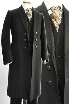 Men's Antique Victorian Wool Frock Coat Day Dress Coat Antique Victorian Frock Coat. I'd have this for my husbands wedding jacket