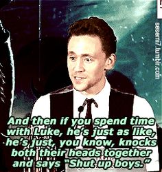 According to Tom Hiddleston, Luke keeps his younger brothers in check.   Important: There Is A Third Hemsworth Brother