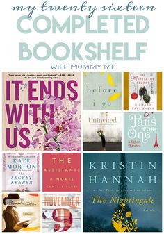 "27!! 27 books read in 2016. My love of reading can't be tamed, no matter how little reading time I get nowadays. On the blog this morning, I'm sharing a quick glimpse at my reading shelf plus 1 must read and 1 you should probably skip. Come join us for this month's ""What We're Reading Wednesday""."