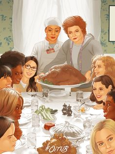 Orange Is The New Black (Thanksgiving Dinner) Alex Vause, Laura Prepon, Orange Is The New Black, Oitnb Red, Lgbt, Dc Comics, Alex And Piper, Marvel, Happy Thanksgiving