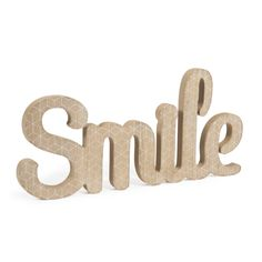 Parola déco Smile in legno L 40 cm BLACKSTAGE
