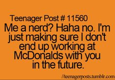 Nerd? I don't think so!