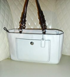 COACH Chelsea White Pebbled Leather Carry All Tote Bag . Starting at $75