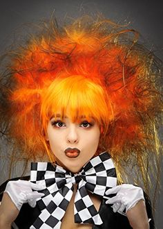 Novelty & Special Use Mad Hatter Cosplay Wig Orange Brown Short Wig Synthetic Hair For Adult Halloween Alice In Wonderland Role Play Anime Costumes