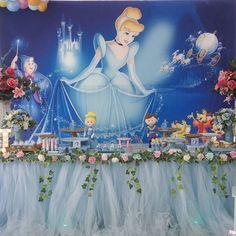 Image may contain: 2 people Disney Princess Birthday Party, Princess Birthday Invitations, Princess Tea Party, Princess Theme, Cinderella Party Decorations, Cinderella Theme, Cinderella Birthday, Birthday Party Decorations, Sleeping Beauty Party