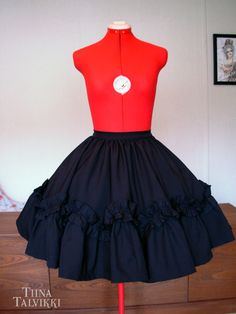 Custom made short ruffle skirt, perfect for a gothic lolita look