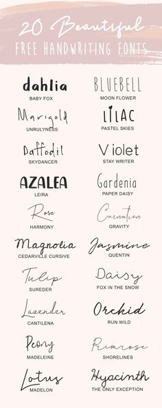 20 Favorite Free Handwriting Fonts - Fonts - Ideas of Fonts - 20 Free Favorite Handwriting Fonts for your Creative Business // Handwriting font handwritten fonts script fonts print fonts free fonts cursive fonts beautiful fonts typography Tattoo Fonts Cursive, Cursive Calligraphy, Cursive Script, Free Cursive Fonts, Font Free, Tattoo Writing Fonts, Handwriting Fonts Alphabet, Free Tattoo Fonts, Tattoo Font Script