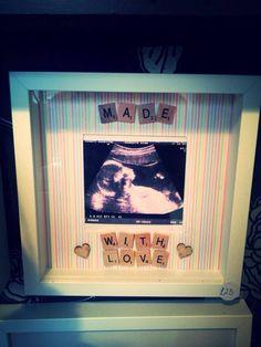 'Made with Love' Scrabble Frame - Peachy Lemon