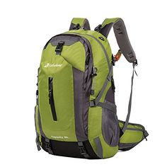 e99b850c14c95 Andway 50 Liters Outdoor Backpack with Rainproof Cover and Adjustable  Shoulder Straps for Traveling Camping Hiking Army Green     This is an  Amazon ...