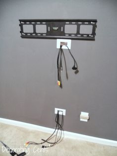 Decorating Cents Wall Mounted TV and Hiding The Cords Household