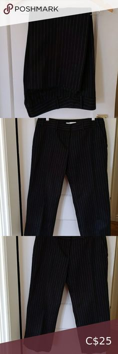 Josef Black Pinstripe Cropped Cotton Pants Straight cut three-quarter length cotton pants in black and white pinstripes. Good condition with no fading. Plus Fashion, Fashion Tips, Fashion Trends, Cotton Pants, Straight Cut, Cropped Pants, Pants For Women, Black And White, Outfits