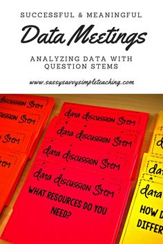 Instructional leadership - Data Meetings and Analyzing Data School Leadership, Educational Leadership, Math Coach, Assistant Principal, Question Stems, Reading Specialist, Student Data, Instructional Coaching, Teaching Tips