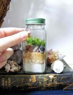 Spice Jar Terrarium | 14 DIY Plant Terrarium Ideas | Mini Terrariums You Can Make Yourself see more at http://diyready.com/14-diy-plant-terrarium-ideas-mini-terrariums-you-can-make-yourself